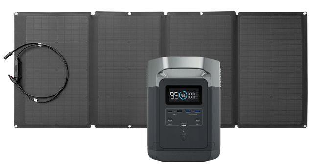 EcoFlow Delta Solar Generator Kit - 160 Watt Solar Panel