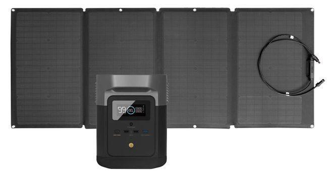 EcoFlow Delta Mini 160 Watt Solar Generator Kit