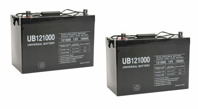 Set of 2 - 100 Ah Sealed Lead Acid Battery 12 Volts - (Total 200 Ah) - For Solar Applications