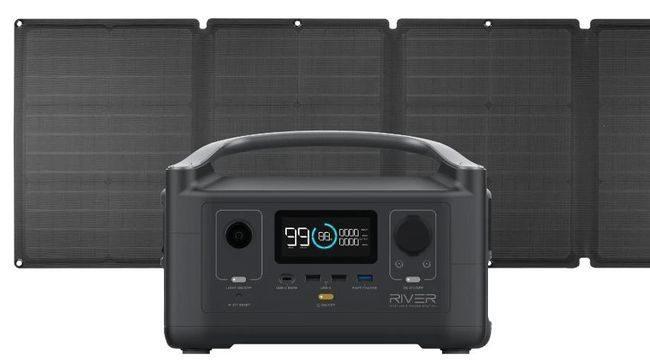 EcoFlow River Portable Solar Generator Kit - With 110 Watt Solar Panel