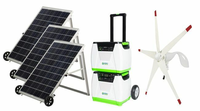 Natures Generator Portable 1800 Watt Solar and Wind Platinum Generator Kit