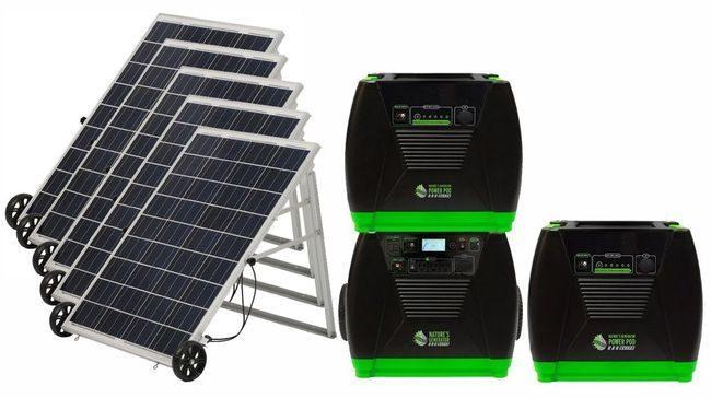 Natures Generator Elite Solar Generator Refrigerator Kit