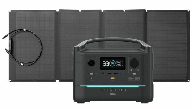 EcoFlow River Max Portable Solar Generator Kit - With 160 Watt Solar Panel