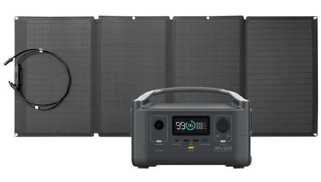 EcoFlow River Portable Solar Generator Kit - With 160 Watt Solar Panel