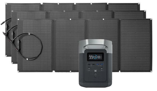 EcoFlow Delta Solar Generator Kit with 480 Watts of Solar