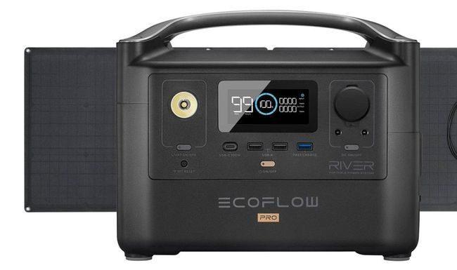EcoFlow River Pro Portable Solar Generator Kit - Includes 160 Watt Solar Panel
