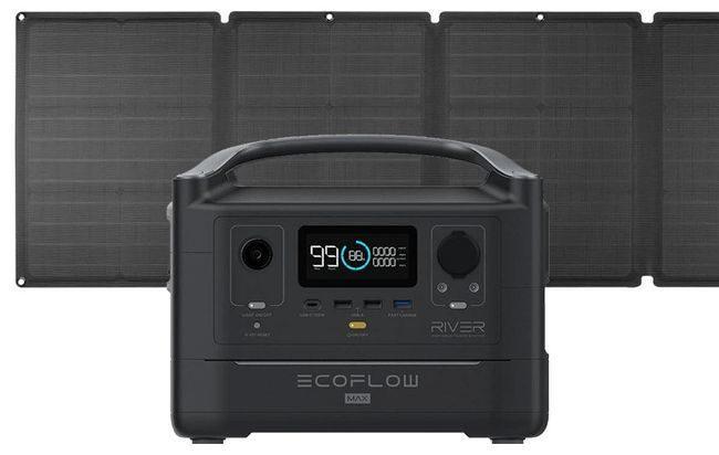 EcoFlow River Max Portable Solar Generator Kit - With 110 Watt Solar Panel