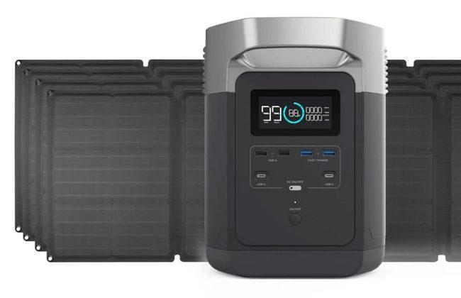 EcoFlow Delta Solar Generator Kit with 440 Watts of Solar