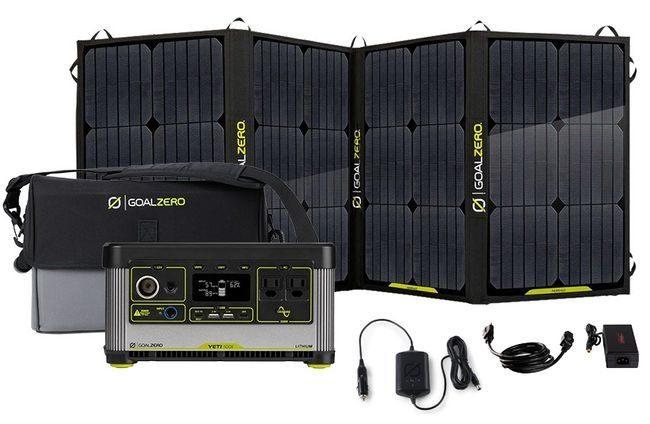 Goal Zero Yeti 500X Portable Solar Generator Kit with Nomad 100 Solar Panel
