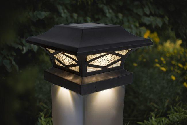 Classy Caps Kingsbridge Black Dual Lighted Solar Post Cap