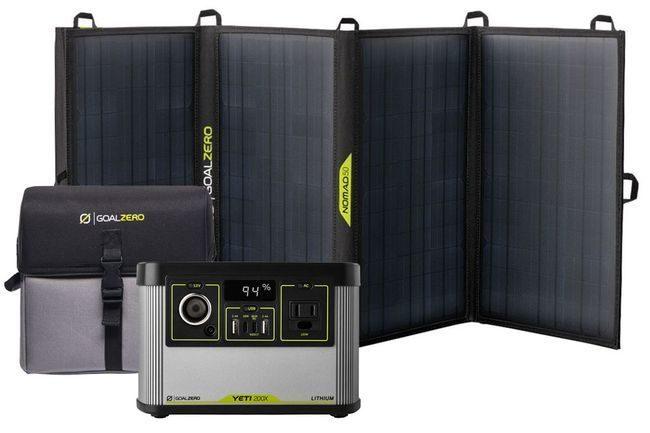 Goal Zero Yeti 200X Portable Power Station and Nomad 50 Solar Kit