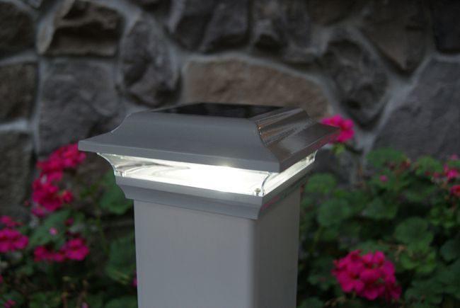 Classy Caps Imperial White Solar Post Cap for 4x4 Post