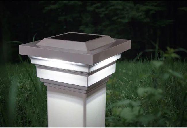 Classy Caps Regal White Solar Post Cap for 4x4 Posts