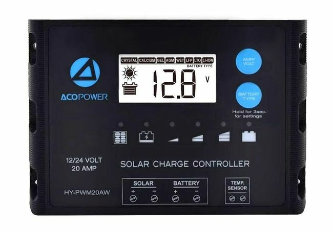 ACO Power 20A ProteusX Waterproof PWM Solar Charge Controller