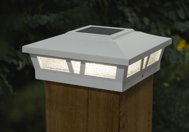 Classy Caps Aluminum Oxford Solar Post Cap - For 6 x 6 Square Posts