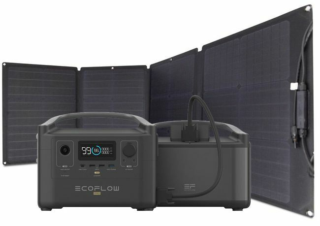 EcoFlow River Pro Portable Solar Generator Kit with Extra Battery - Includes 110 Watt Solar Panel
