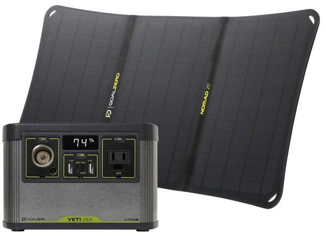 Goal Zero Yeti 200X Portable Power Station and Nomad 20 Solar Kit