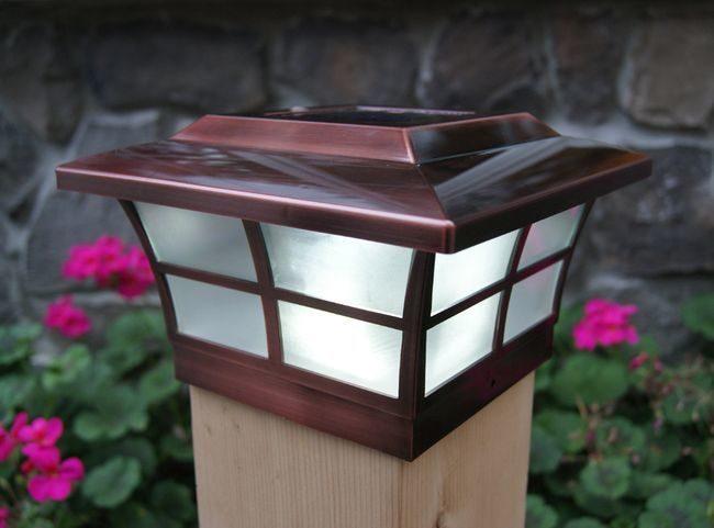 Classy Caps Copper Prestige Solar Post Cap for 6x6 Posts
