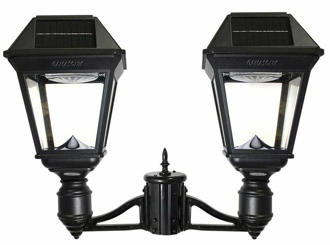 Gama Sonic Imperial III Commercial Solar Double Post Light