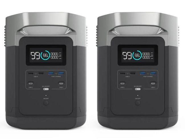 2X EcoFlow Delta Power Stations - Battery Backup Portable Generators