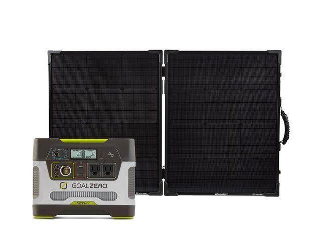 Goal Zero Yeti 400 Portable Power Station & Boulder 100 Briefcase Solar Panel Kit