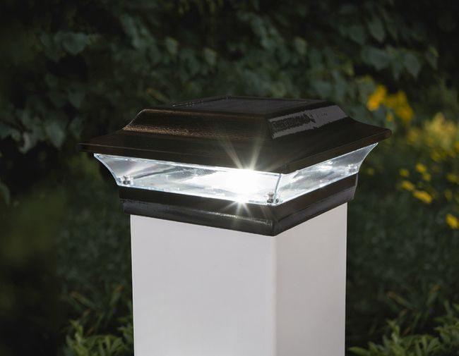 Classy Caps Imperial Black Solar Post Cap for 5x5 Post