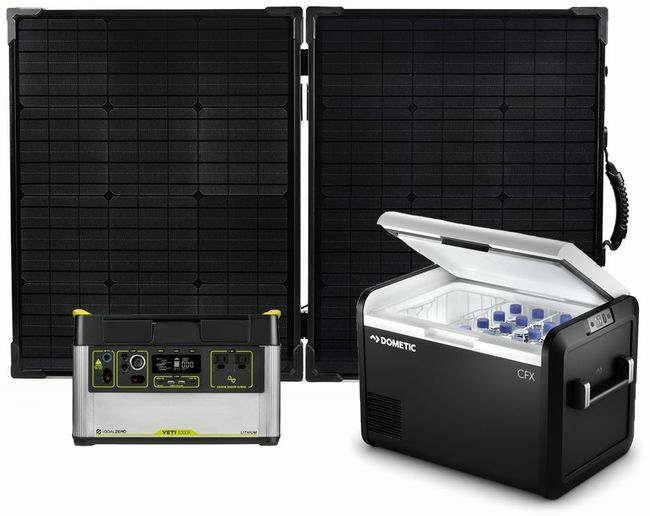 Goal Zero Yeti 1000X Solar Generator and Dometic CFX3 55IM Portable Electric Cooler and Freezer Kit