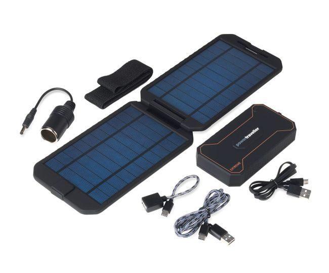 Powertraveller Extreme 12,000 mAh Battery and Solar Panel Kit