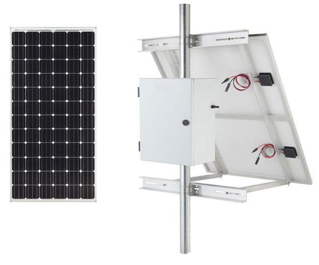 Low Voltage Landscape Lighting Solar Generator Kit - 50 Watts for 8 Hours