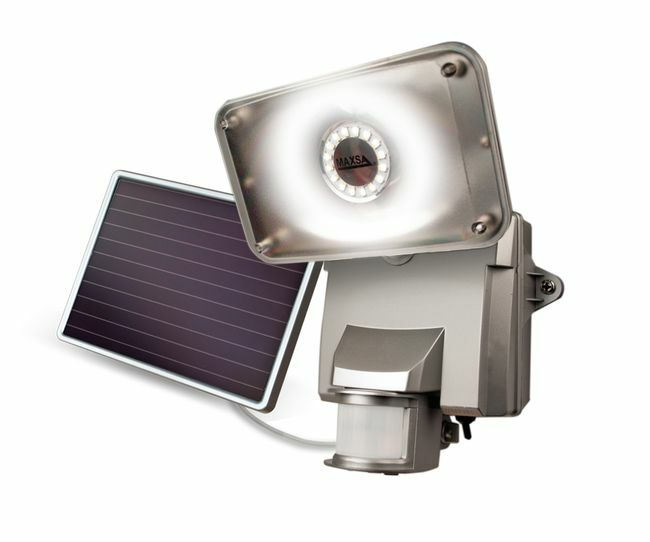 Maxsa High Output Solar Security Light - 1100 Lumens