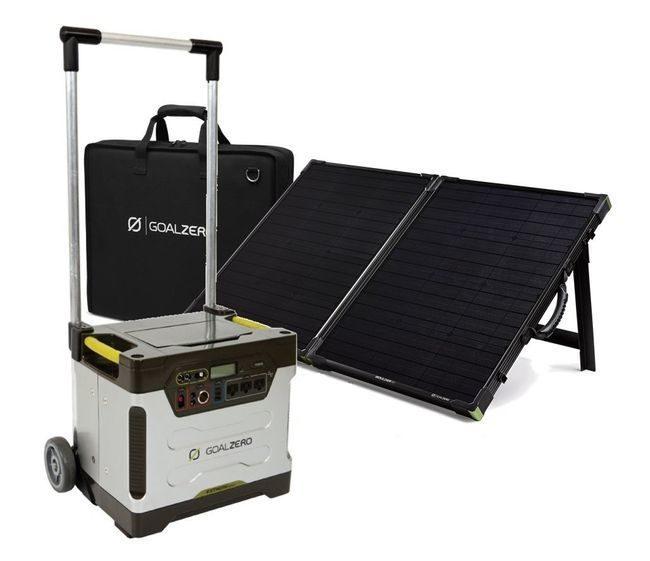 Goal Zero Yeti 1250 with Boulder 100 Watt Briefcase Solar Panel Kit