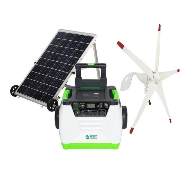 Natures Generator Portable 1800 Watt Solar and Wind Generator Kit