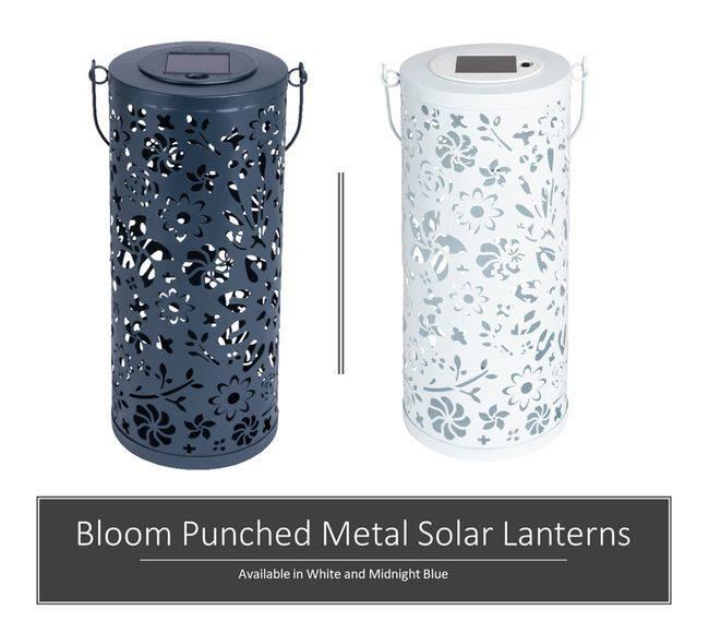Bloom Punched Metal Solar Lanterns