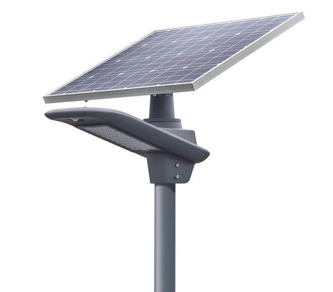 Earthtech Products LED Commercial 50 Watt Solar Street Light - 6500-7500 Lumen