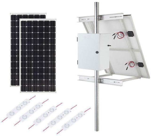Internally Lit LED Module Solar Lighting Kit - 4860 Lumens