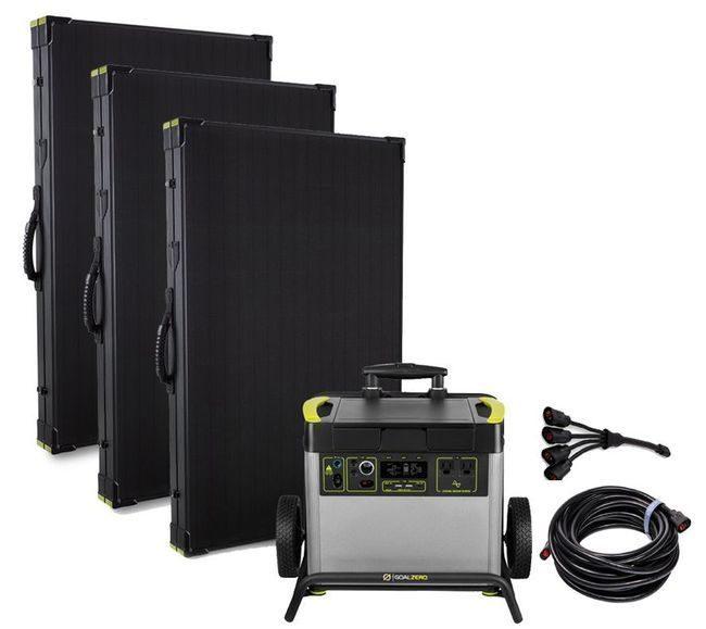 The Refrigerator - Yeti 3000X Lithium Lightweight Solar Generator Kit - Includes (3) Boulder 200 Watt Panels