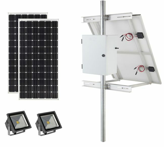 Earthtech Products Commercial Solar Flag Pole Lighting Kit for Flagpoles Up to 40 Feet - 2 Lights (7200 Total Lumens)