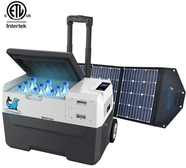 Lioncooler x30A Portable Fridge/Freezer Solar Panel Kit