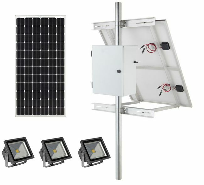 Earthtech Products Commercial Solar Flag Pole Lighting Kit for Flagpoles Up to 25 Feet - 3 Lights (3600 Total Lumens)