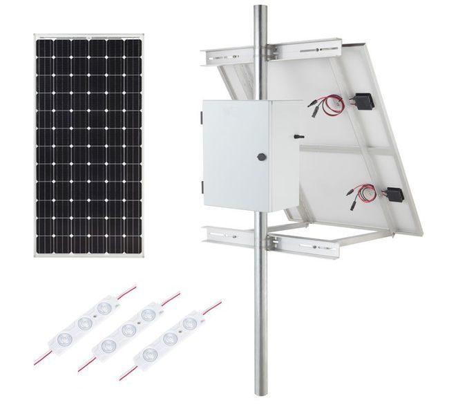 Internally Lit LED Module Solar Lighting Kit - 2430 Lumens