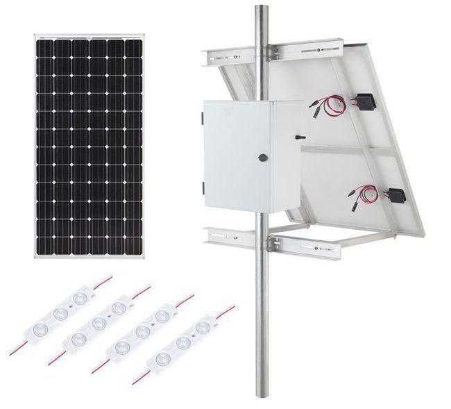 Internally Lit LED Module Solar Lighting Kit - 3510 Lumens