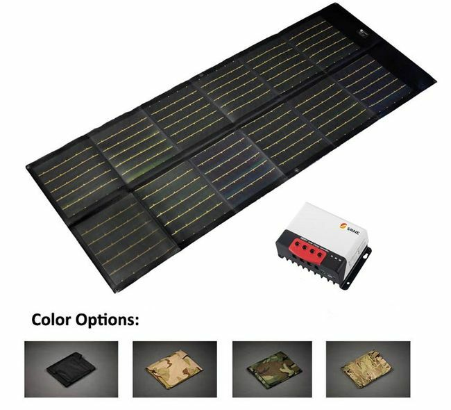 75 Watt Portable 12V Solar Charger with 20 Amp Charge Controller - Military Grade