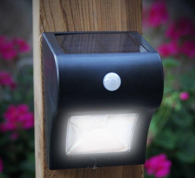 Classy Caps Solar Motion Sensor Deck and Wall Light