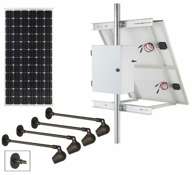 Commercial Dual Solar Sign Lighting Kit - Surface Mount