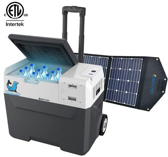 Lioncooler x40A Portable Fridge/Freezer Solar Panel Kit
