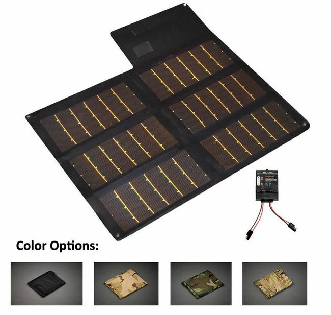 20 Watt Portable Solar Charger with 7 Amp Charge Controller - Military Grade