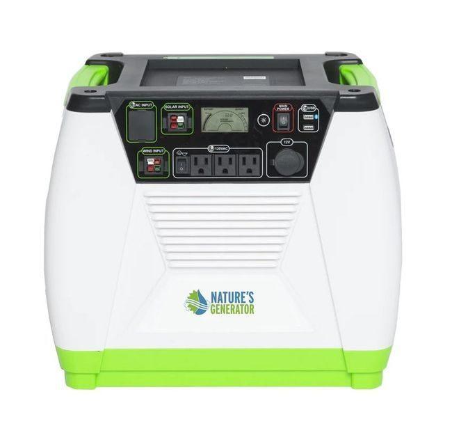 Natures Generator Portable 1800-Watt Solar Generator Without Cart