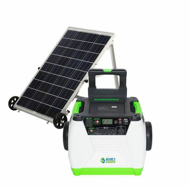 Natures Generator Portable 1800-Watt Solar Generator - Gold Kit