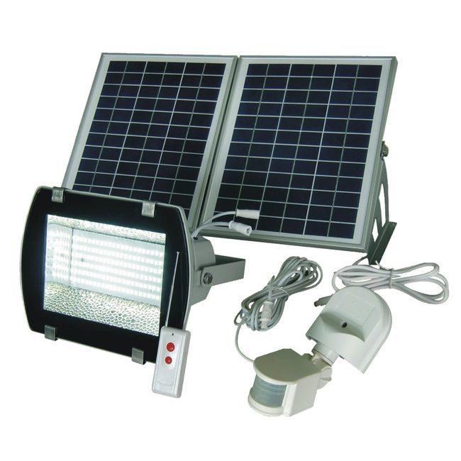 156-LED Solar Flood Light With Remote Control - SMD LED
