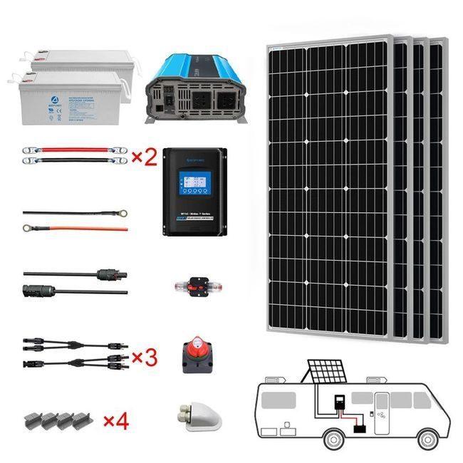ACO Power 400 Watt Monocrystalline RV Solar Kit